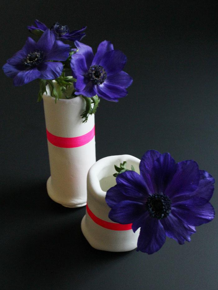 Neon Vasen oder doch lieber Knöpfe…oder was mach ich aus Fimo?
