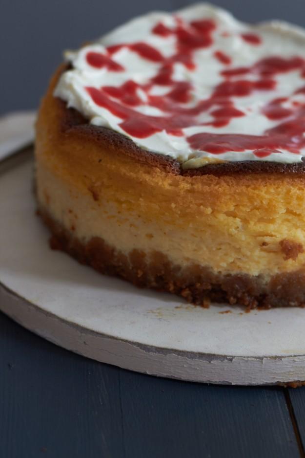 California Cheesecake mit Erdbeersoße und die besten Rezepte für Käsekuchen