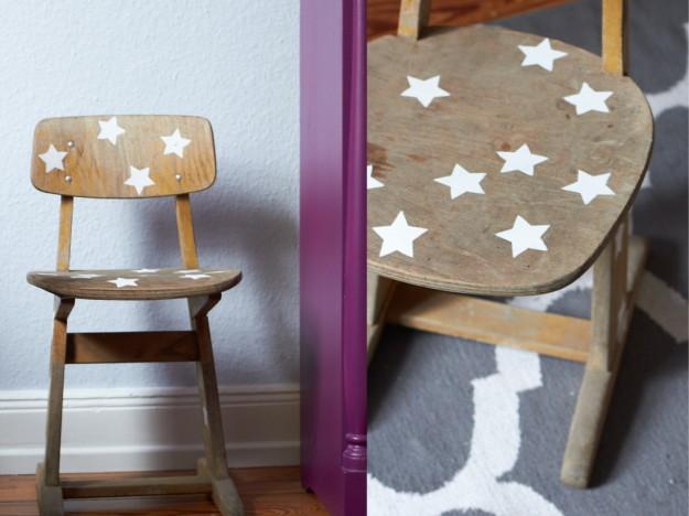 Kinderstuhl DIY Sterne http://www.tastesheriff.com/