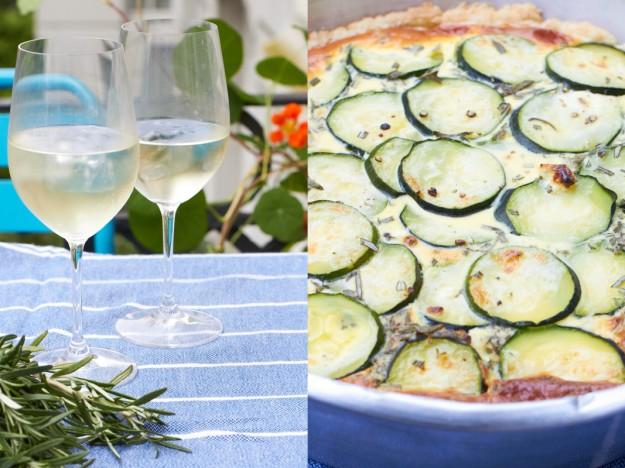 zucchini rosmarin quiche - http://www.tastesheriff.com/ #ichbacksmir #quiche