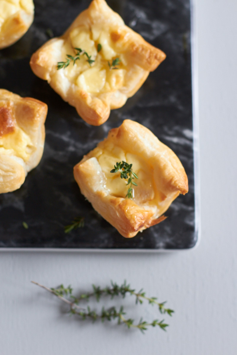 #ichbacksmir Partyrezept Mini-Ziegenfrischkäse-Quiche mit Birne