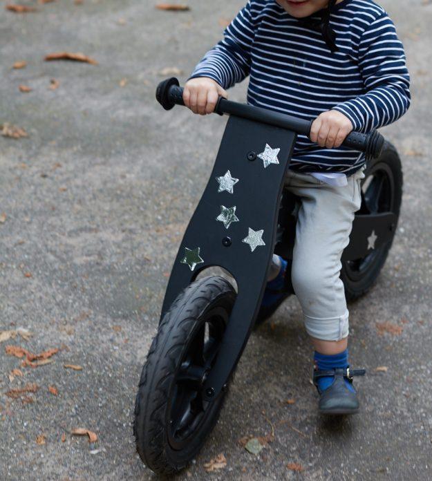 Pimp-up your Laufrad - tolles DIY für ein Laufrad.