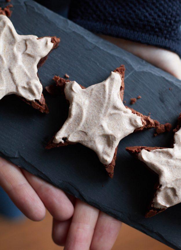 heute gibt es Brownie-Zimtsterne – #ichbacksmir