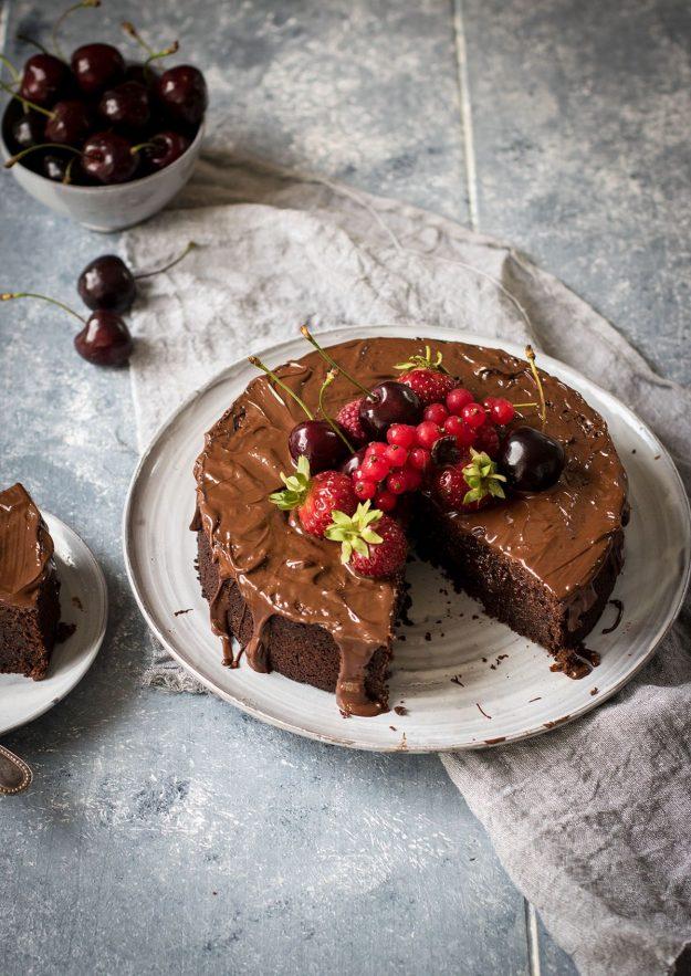 Saftiger Schokoladenkuchen