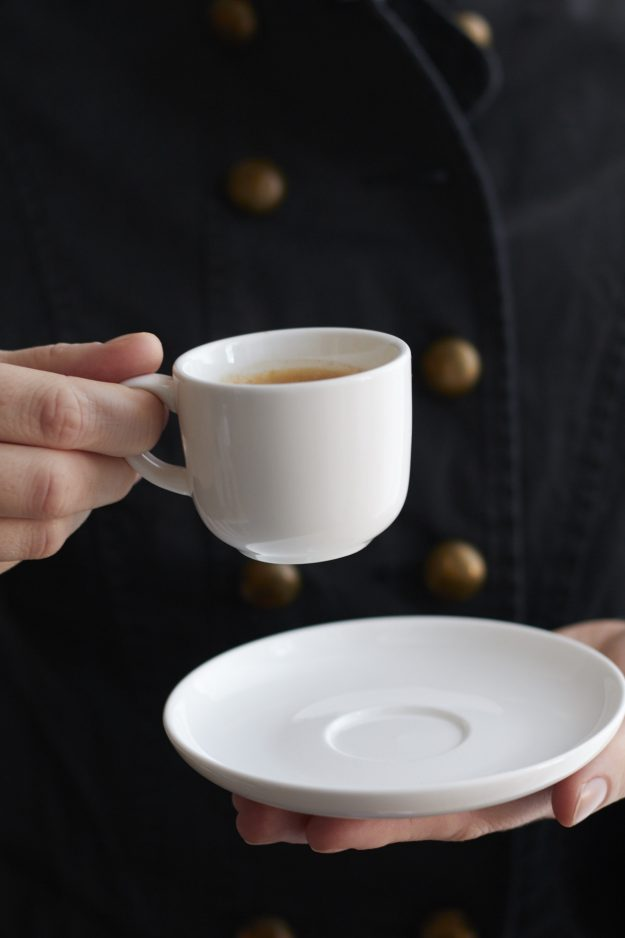 Eine Tasse köslichen Espresso