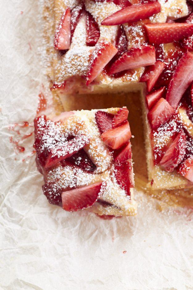 Erdbeer joghurt kuchen blech