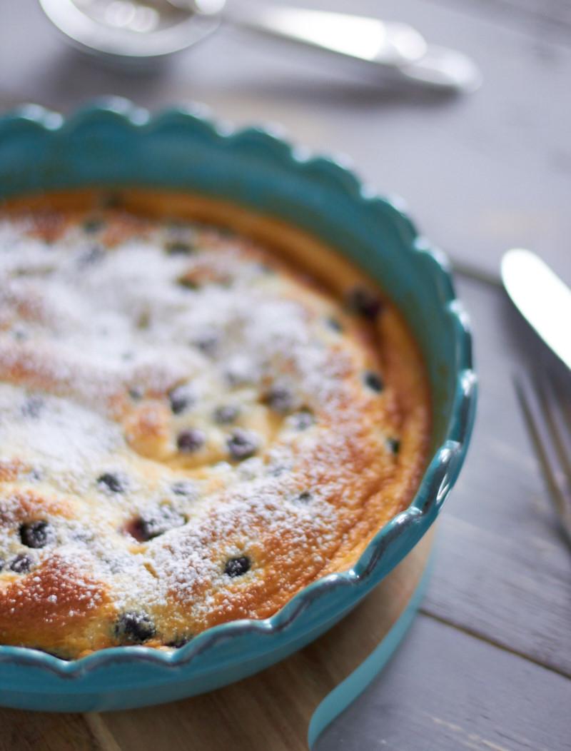 ich backs mir zum Thema Frühstück – Ofenpfannkuchen mit Blaubeeren