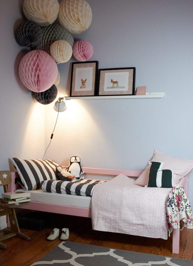 Kinderzimmerumgestaltung in pantone rose tastesheriff - Kinderzimmer neu einrichten ...