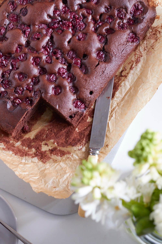 Ein Schneller Und Leckerer Sonntagskuchen Schoko Kirsch Kuchen