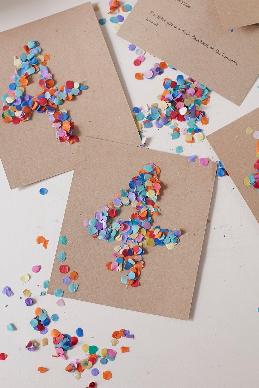 Fabulous Geburtstagseinladungen selber machen! Konfetti für alle VC05