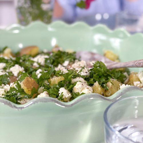 Köstliches Rezept für einen frischen Kartoffel Feta Salat
